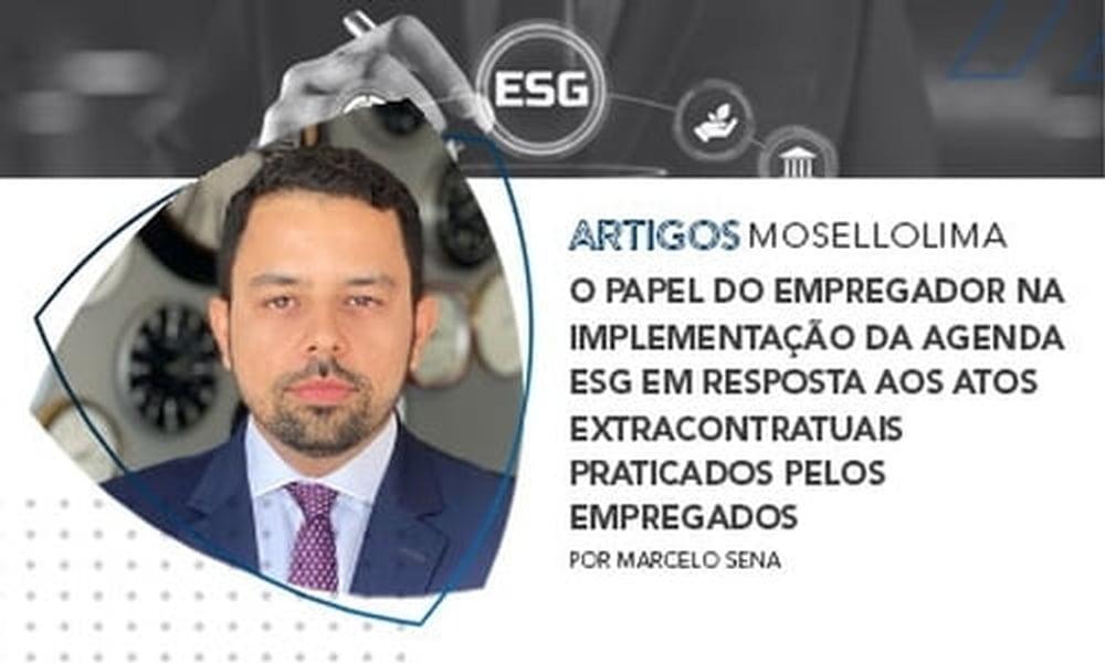 O papel do empregador na implementação da agenda ESG em resposta aos atos extracontratuais praticados pelos empregados
